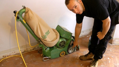 How to use a floor sander