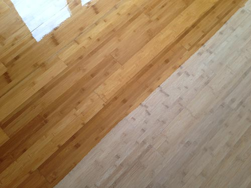 refinishing bamboo flooring