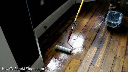 lacquering hardwood floors